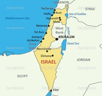 State of Israel - vector map