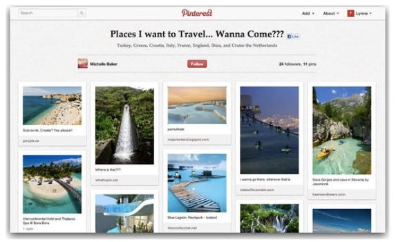 pinterest travel page